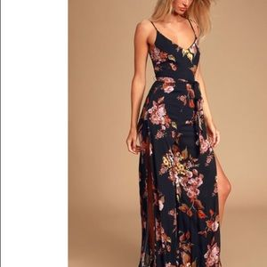 Lulus Beautiful People Black Floral Print Jumpsuit